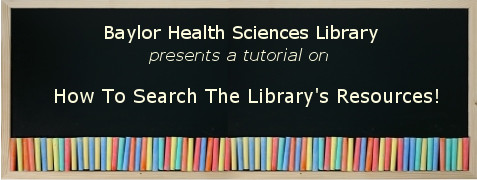 Tutorial on using the Library's homepage