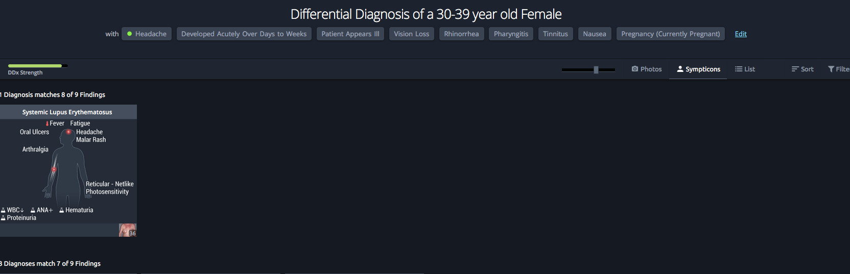 VisualDX Differential Diagnosis