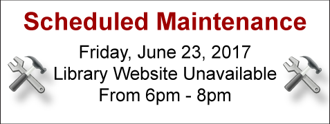 Library Website Outage June 23rd 6-8pm