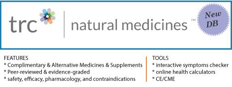 New DB: Natural Medicines